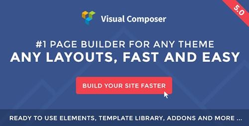 Visual Composer v5.0.1  WordPress页面生成插件 免费下载