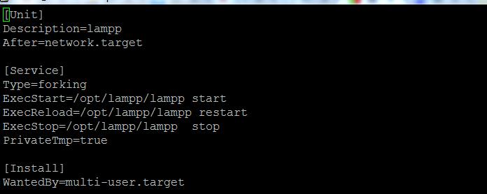 如何在CENTOS 7.2中使用新的方式(systemctl)添加XAMPP服务使其开机启动