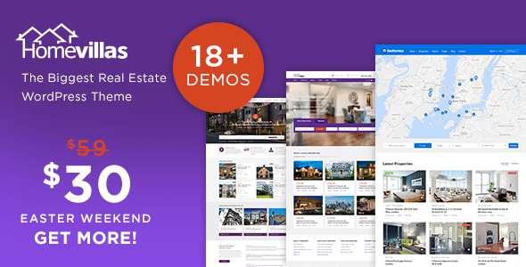 Home Villas v1.7 房地产企业 WordPress 英文主题
