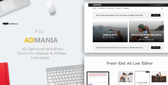 Admania v2.2 广告联盟站长的广告优化wordpress主题