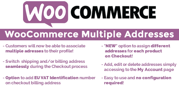 WooCommerce Multiple Customer Addresses v6.0 WordPress商城插件