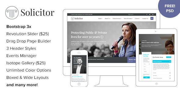 WORDPRESS法律商业主题 Solicitor v1.3 免费下载